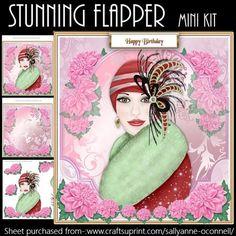 Flapper Lady mini kit on Craftsuprint - Add To Basket!