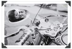 engagement Photo - motorcycle