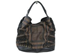 #Burberry Shoulder Bag PVC/Leather Brown/Black (BF106703): #eLADY global accepts returns within 14 days, no matter what the reason! For more pre-owned luxury brand items, visit http://global.elady.com