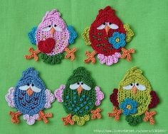 crochet by miranda. These are adorable!
