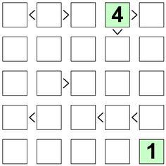 Number Logic Puzzles: 21339 - Futoshiki size 5