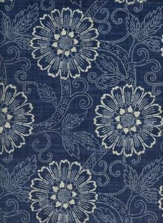 indigo floral fabric - Beautiful Fabric Store – An Online Decorator Fabric Shop Motifs Textiles, Textile Patterns, Textile Design, Fabric Design, Print Patterns, Pattern Fabric, Blue And White Fabric, Blue Fabric, Floral Fabric