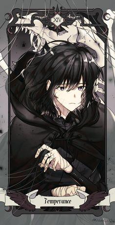 Anime Art Girl, Manga Art, Fantasy Characters, Anime Characters, Magic Anime, Gato Anime, Tarot Major Arcana, Handsome Anime, Anime Artwork