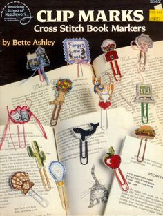 Cross Stitch Pattern Book Markers Clip Marks by mgcuozzo on Etsy, $3.50