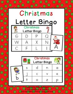 Christmas Letter Bingo $2.00