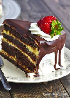 шоколадный торт рецепт с фото