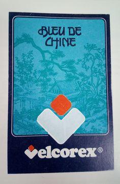 Etiquette Velcorex - Collection Bleu de Chine