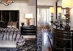 Want this bed......headboard, blankets, etc Bruce and Kris Jenner's Home - Kris and Bruce's bedroom