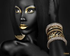 ~ Black Mystique II ~  - Sequel to the first piece of this kind i tried a few weeks ago.  Live to create, Create to live!!  Photo by : I.Douglas Retoucher: Leonardo Forentii MUA: Tinika Samaroo Shot at LSM Studios