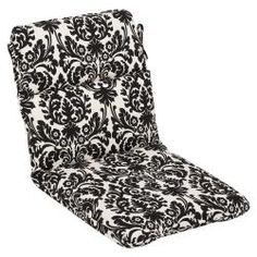 Shop for Pillow Perfect Outdoor Black/ Beige Damask Round Chair Cushion. Get free delivery at Overstock.com - Your Online Garden