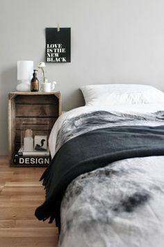 houten krat als nachtkastje - quote - crate