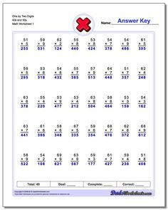 Conventional Multiplication Practice These multiplication worksheets introduce math facts in order, as opposed to by fact families. If you grew up more than 20 years ago doing timed multiplication tests, these may look familiar. Multiplication Timed Test, Printable Multiplication Worksheets, Multi Digit Multiplication, Multiplication Problems, Addition Worksheets, Learning Multiplication, Math Addition, Free Worksheets, Simple Addition