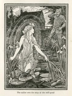 "H.J. Ford, illustration for ""The Nixy,"" from Lang's ""Yellow Fairy Book"""