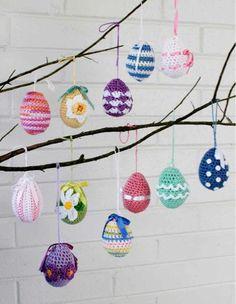Maggie's Crochet · Elegant Easter Eggs Crochet Pattern #crochet #pattern #Easter #egg #colorful #cute #festive