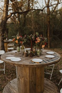 This Vibrant Texas Wildlife Sanctuary Wedding has All the DIY Inspiration You Need Forest Wedding, Woodland Wedding, Fall Wedding, Wedding Black, Boho Wedding, Wedding Reception, Bohemian Weddings, Bohemian Bride, Romantic Weddings