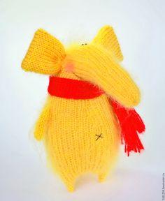 Купить Солнечный Слоняшка - вязаная игрушка слоник амигуруми слон - желтый, слон, слоник