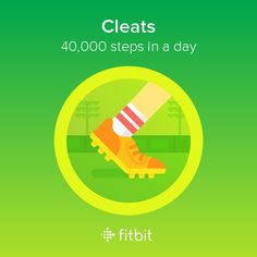I took 40,000 steps and earned the Cleats badge! #Fitbit