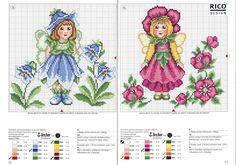 Artesanatos e bordados: GRAFICOS DE FADINHAS EM PONTO CRUZ