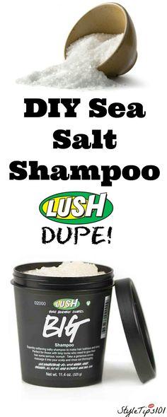 diy sea salt shampoo