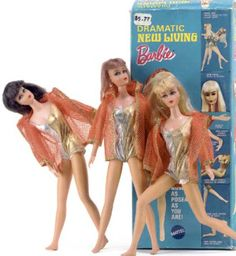 Another view of the poseable Dramatic New Living Barbie Doll from 1970
