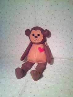 Monkey - Handmade Plushie Made Out Of Felt