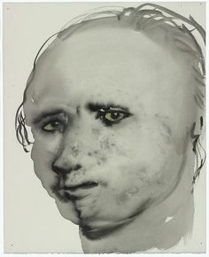 Models Marlene Dumas 1953 Capetown (ZA) Datering: 1994 Materiaal en techniek: gewassen inkt, krijt op papier Afmetingen: (100x) 62 x 50 cm Van Abbemuseum: collectie