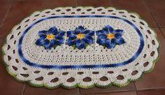 Resultado de imagem para tapetes de croche para cozinha com linha barroco