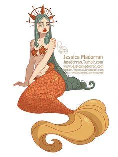 MerMay Day 09 - Celestial Mermaid by MeoMai on DeviantArt Mermaid Illustration, Illustration Art, Walt Disney, Design Alien, Science Fiction, Siren Mermaid, Pin Up, Mermaid Pictures, Mermaid Coloring