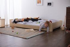 Montessori Floor Bed The post Montessori Floor Bed appeared first on Toddlers Diy.