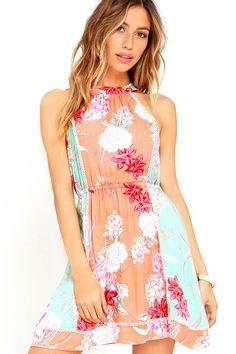 BACKYARD BLISS HALTER DRESS