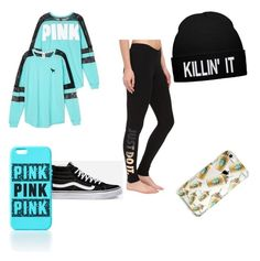 """""""Untitled #42"""" by brooklyen on Polyvore featuring Victoria's Secret, NIKE and Vans"""