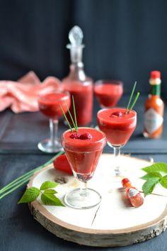 Cocktail de poivrons, framboises et sauce TABASCO® rouge { Sans alcool }