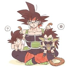 Se calman, o los calmo. Bardock, Goku, and Raditz, Dragonball Evolution, Dragon Ball Z, Son Goku, Chibi, Cute Dragons, Anime Merchandise, Anime Shows, Otaku, Anime Art