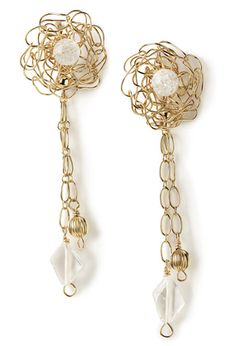 Many unique earing styles start with a circle of crochet.