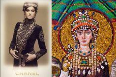 Imperio bizantino. Chanel hizo una colección inspirada en el imperio bizantino