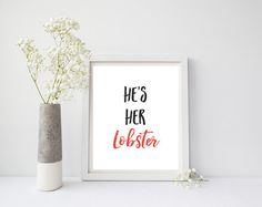Hey, I found this really awesome Etsy listing at https://www.etsy.com/listing/479709823/hes-her-lobster-friends-wall-art-friends