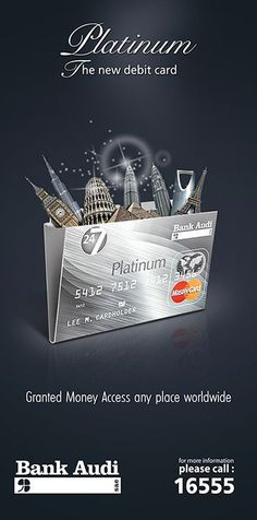 credit cards poster credit card design Platinum Debit Card - Audi Bank on Behance Creative Poster Design, Ads Creative, Creative Posters, Creative Advertising, Advertising Design, Audi, Banks Advertising, Advertising Campaign, Milk Advertising