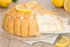 Zuccotto al limone senza cottura
