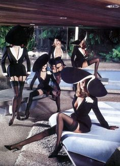HELMUT NEWTON | THIERRY MUGLER | STYLE AND STRUCTURE | 1980'S