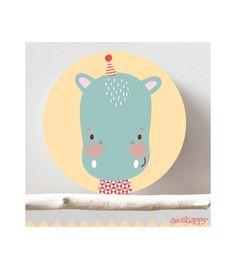 Cuadro infantil Hippo feliz