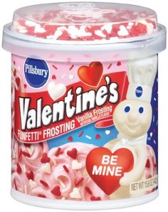 Top your cakes, cookies and desserts with Pillsbury® Funfetti® Valentine's Frosting. Vanilla Frosting, Vanilla Flavoring, Valentine Cake, Valentines, Store Bought Frosting, Disney Coffee Mugs, Easy Bake Oven, Baking Supplies, Pillsbury