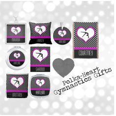 """Polka-Hearts Gymnastics Gifts"" by gollygirls #gymnastics #polkadots #gifts"