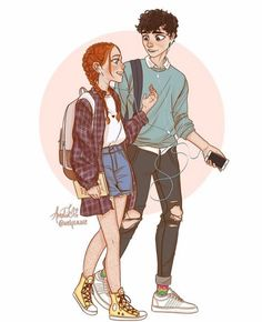 cartoon art anne and gilbert from anne with an e November 21 2019 at Cartoon Kunst, Cartoon Drawings, Cute Drawings, Gilbert And Anne, Anne White, Gilbert Blythe, Anne Shirley, Cartoon Art Styles, Character Drawing