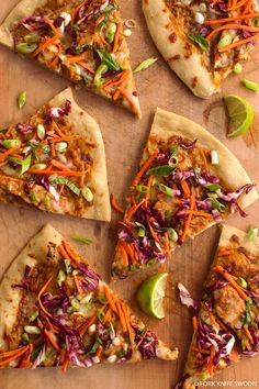 Thai Chicken Pizza love me some Thai foooood