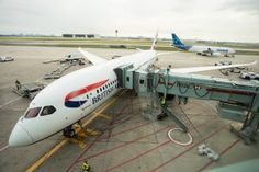 British Airways' first long haul 787 flight arrives into Toronto Pearson airport on September 1, 2013.