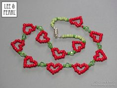 Happy Valentine's Day from Lee & Pearl! Here's a sweet treat for you and your dolls — a FREE tweak-the-pattern packet of diagrams and directions to make a HEART SHAPED DAISY CHAIN CHOKER for dolls or people. Download yours today! Valentine Ideas, Happy Valentines Day, Beaded Choker, Beaded Jewelry, Beadwork, Beading, Pearl Crafts, Daisy Chain, Weaving Techniques