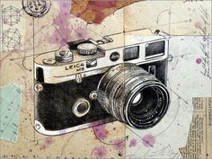 Loui Jover the rangefinder Poster at Posterlounge ✔ Fast delivery ✔ Large selection ✔ High quality prints ✔ Buy Loui Jover posters now! Camera Sketches, Camera Drawing, Camera Art, Leica Camera, Camera Painting, Photography Illustration, Illustration Art, Drawing Block, Pichwai Paintings