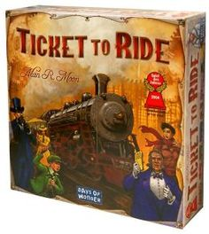 Ticket to Ride - Great fun easy to learn game. Probably one of the first Euro games I have played.
