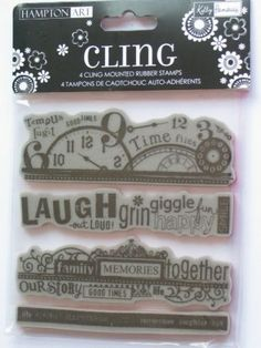 Kelly Panacci Inc.  licensed to Hampton Art rubber cling stamps
