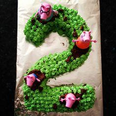 Peppa pig number 2 cake